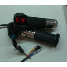 Gázkar markolatos feszültségkijelzővel és gyújtáskapcsolóval