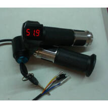 Electric Throttle with Voltage Indicator and Ignition Lock