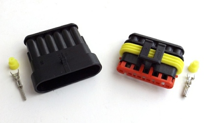 Connector AMP 6pin Waterproof